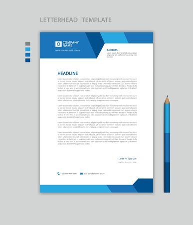 Letterhead template vector, minimalist style, printing design, business advertisement layout