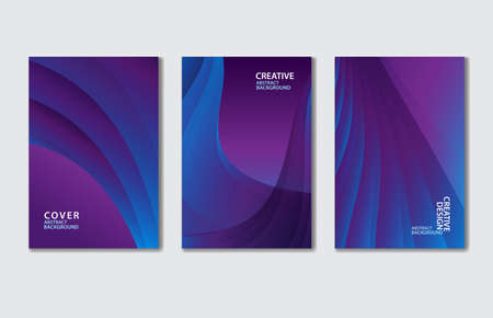 Purple Cover vector template set. Abstract background for book, flyer, brochure, catalog, poster, banner, web page, card. creative idea for corporate Stok Fotoğraf - 154337752