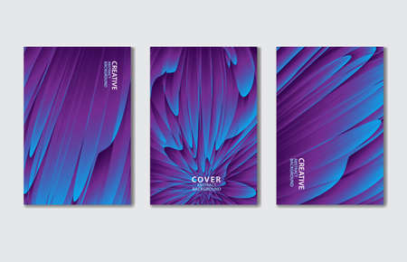 Purple Cover vector template set. Abstract background for book, flyer, brochure, catalog, poster, banner, web page, card. creative idea for corporate Stok Fotoğraf - 154337753