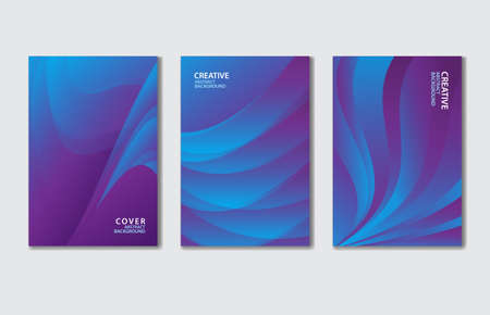 Purple Cover vector template set. Abstract background for book, flyer, brochure, catalog, poster, banner, web page, card. creative idea for corporate Stok Fotoğraf - 154337755
