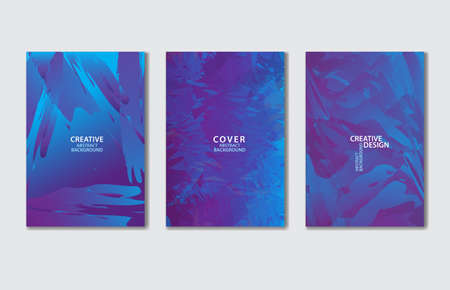 Purple Cover vector template set. Abstract background for book, flyer, brochure, catalog, poster, banner, web page, card. creative idea for corporate