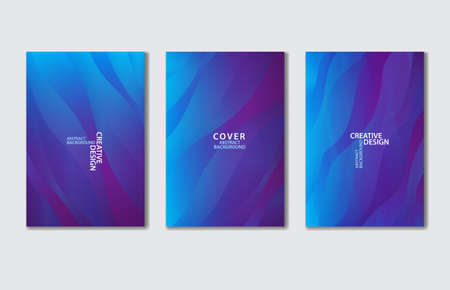 Purple Cover vector template set. Abstract background for book, flyer, brochure, catalog, poster, banner, web page, card. creative idea for corporate Stok Fotoğraf - 154337760