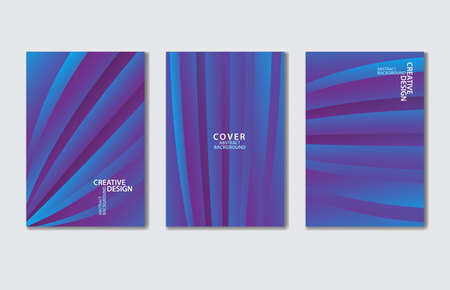 Purple Cover vector template set. Abstract background for book, flyer, brochure, catalog, poster, banner, web page, card. creative idea for corporate Stok Fotoğraf - 154337975