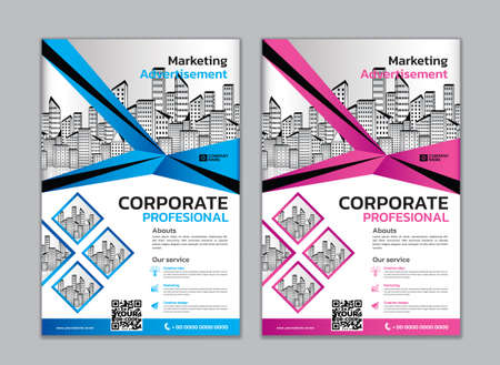 Corporate flyer layout template vector illustration, Marketing, advertisement, cover, brochure flyer design, poster, banner, blue abstract backgrounds