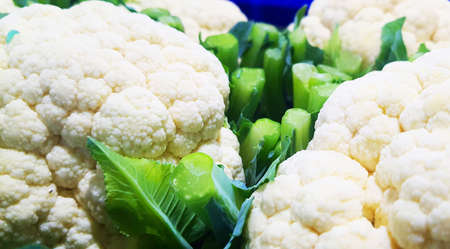 Group of cauliflower, vegetable background