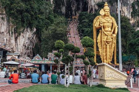 Batu Caves statue and entrance near Kuala Lumpur, Malaysia Editorial