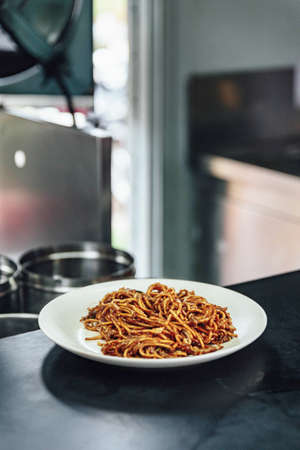 Goreng Noodles the ready to serve in Malaysia.
