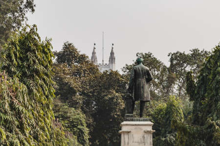 mughal: Man statue in VIctoria Memorial Hall in Kolkata, India Editorial