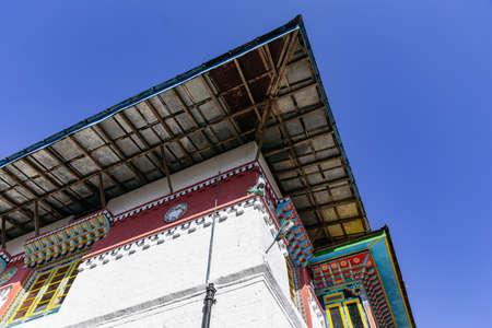 Roof detail of Tibetan Buddhism Temple in Sikkim, India. Stock fotó