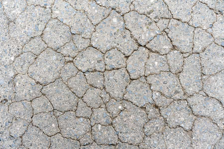 Old crack road concrete floor texture. Perfect for background. Stock Photo