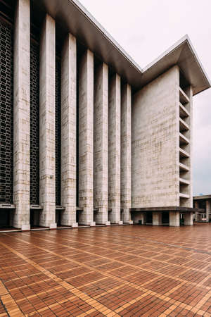 The plaza of Istiqlal Mosque is called Keramik Merah, means Red Ceramic Tile. Istiqlal is the largest mosque in Southeast Asia.