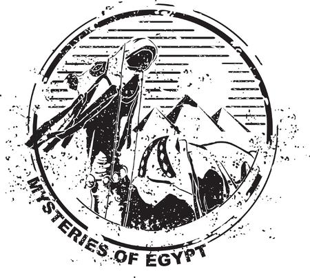Mysteries of egypt Illustration