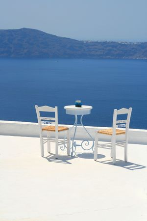 Beautiful view from Santorini, Greece Stock Photo