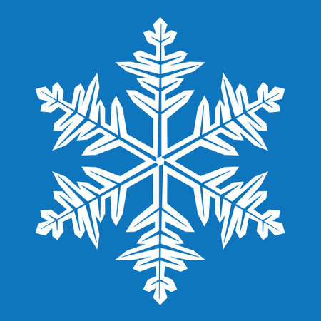 abstract snowflake on a blue background Stock Vector - 10429199