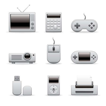 multimedia equipment icons for website, presentation or blog  Stock Vector - 10429255