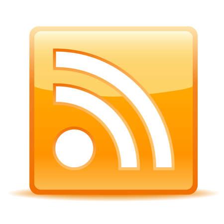 weblog: rss icon for website or weblog Illustration