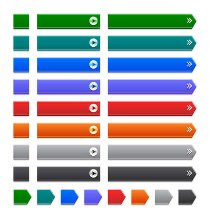 color web buttons on white Stock Vector - 10429233