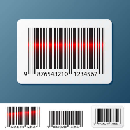barcode label on dark blue Illustration
