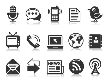 Communication icons Stock Vector - 10429202