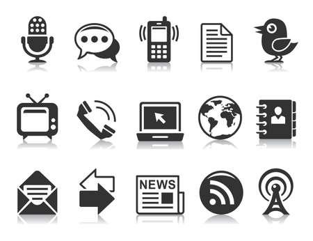 icono computadora: Iconos de la comunicación Vectores