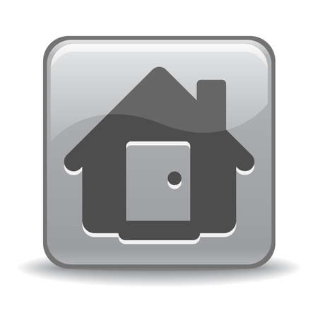 silver home icon for web design