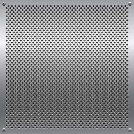 metal grid: Shiny metal grid.