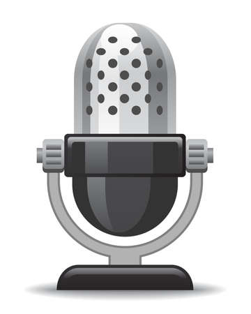 microphone icon for website, presentation or application design Vector