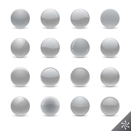 Round silver buttons in various style for your design. All elements are separate. File is layered Illustration
