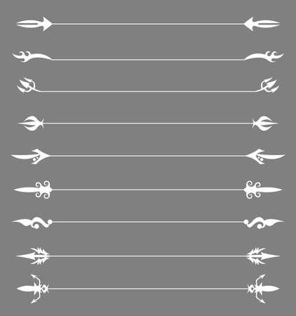 règle: des r�gles de page d�coratifs pour votre conception. Illustration