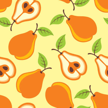 pears seamless pattern  Illustration