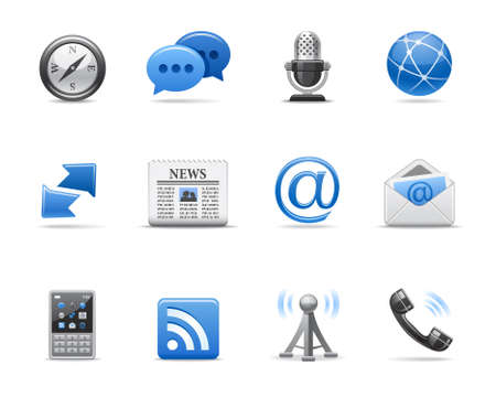 mobile phone icon: Communication icons for your design