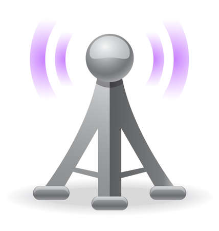 wireless tower: wireless tower icon Illustration