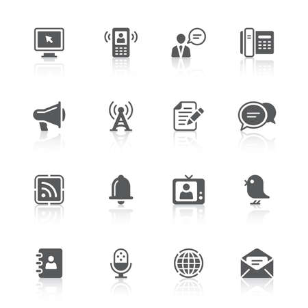 discussion forum: communication icons  Illustration
