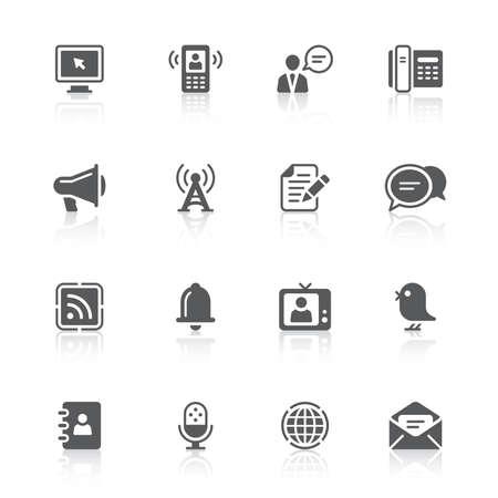 icônes de la communication Vecteurs