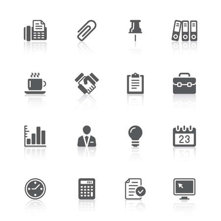 business & office icons Vector