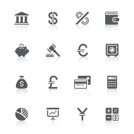 バンキング: 金融アイコン