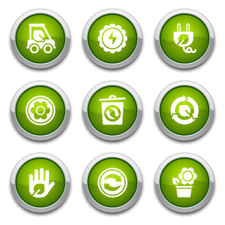 Green ecology buttons  Stock Vector - 13202085