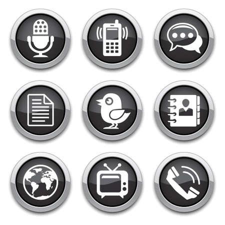 botones negros de Comunicación