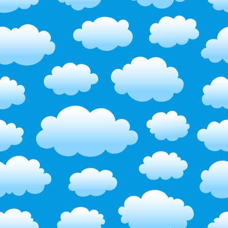 blauen Himmel bewölkt nahtlose Muster Vektorgrafik