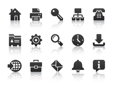black internet icons Illustration