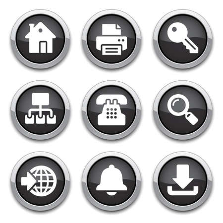 black internet buttons  Stock Vector - 14898159