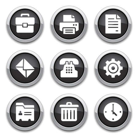black office buttons