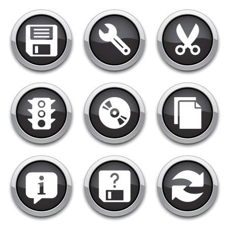 save as: black basic application buttons