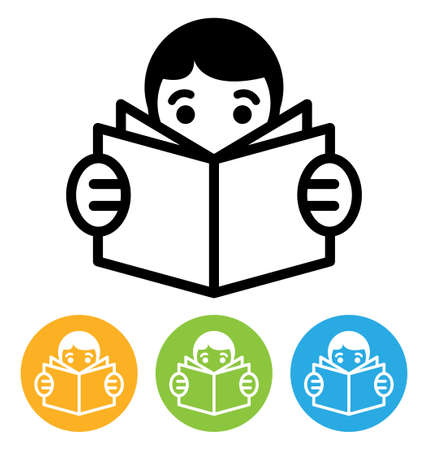 reading icon  Stock Vector - 15048101