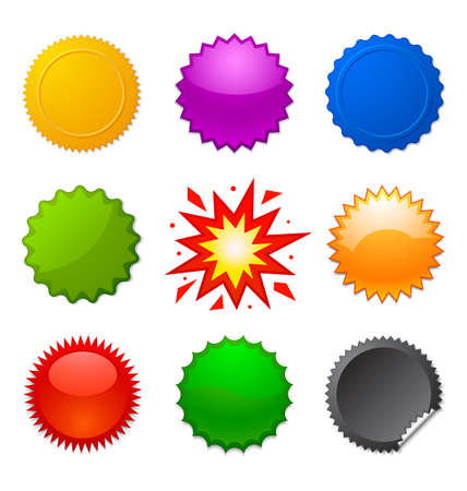 starburst seals Stock Vector - 15048102