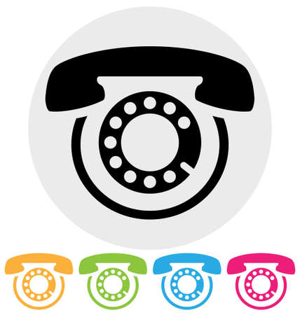 customer service phone: phone icon isolated on white Illustration