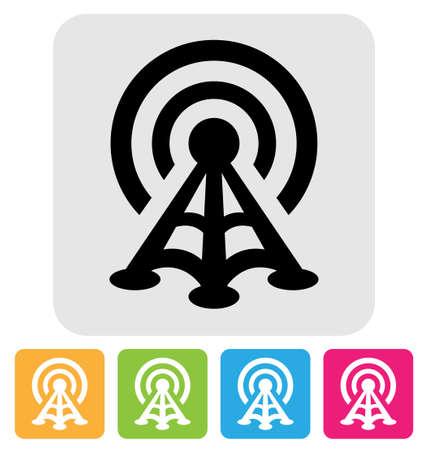 radio tower: radio tower symbol isolated on white