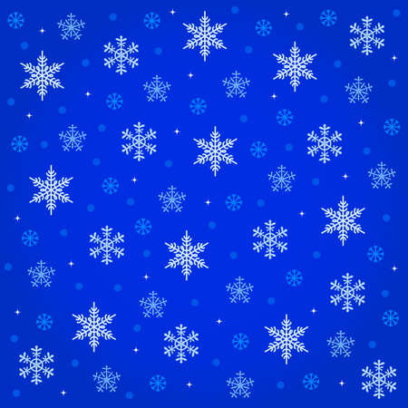 midnight snowfall / winter background with falling snowflakes Stock Vector - 16897192