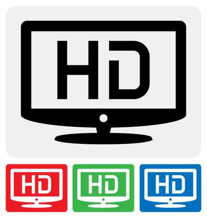 high definition television symbol / HDTV icon Stock Vector - 18013893