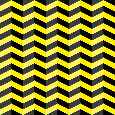 Black and yellow chevron seamless pattern